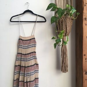 Urban Outfitters Embroidered Maxi Dress